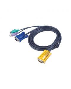 ATEN 2L-5203P 3M PS/2 KVM Kabel met 3 in 1 SPHD