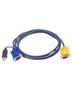 ATEN 2L-5203UP 3M USB KVM Kabel met 3 in 1 SPHD en ingebouwde PS/2 naar USB omzetter