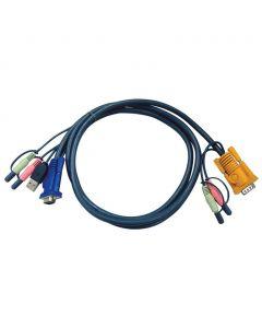 ATEN 2L-5302U 1.8M USB KVM Kabel met 3 in 1 SPHD en Geluid