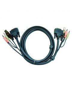 ATEN 2L-7D02UI 1.8M USB DVI-I Enkelvoudige Link KVM Kabel